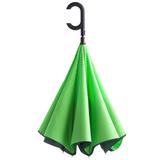 Зонт трость наоборот полуавтомат Unit ReStyle, зеленый / темно-зеленый фото