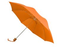 Зонт складной Oho, оранжевый фото
