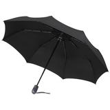 Зонт складной автоматический 3 сложения E.200, черный фото