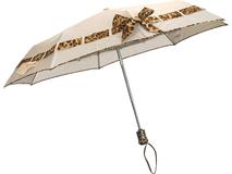 Зонт складной автомат с бантом, бежевый фото