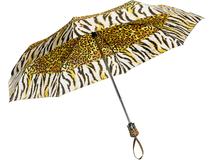 Зонт складной автомат, тигриный фото