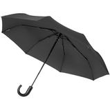 Зонт складной автомат Lui, черный фото