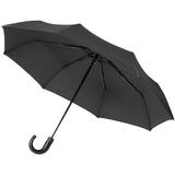Зонт складной автомат Lui, черный с красным фото