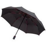 Зонт складной автомат Fare AOC Mini, 3 сложения, черный/ красный фото