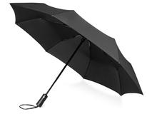 Зонт складной Ontario, чёрный фото