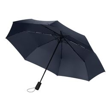Зонт складной Portobello Nord, синий, ручка пластик, soft touch фото