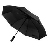 Зонт складной полуавтомат PRESTON с ручкой-фонариком, черный фото