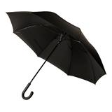 Зонт трость полуавтомат CAMBRIDGE с ручкой soft-touch, черный фото