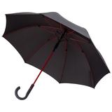 Зонт трость полуавтомат Fare Color Style, цветные спицы, черный/ красный фото