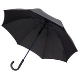 Зонт трость полуавтомат Fare Color Style, цветные спицы, черный/ синий фото