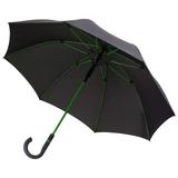 Зонт трость полуавтомат, цветные спицы, Color Style,черный/зеленый фото