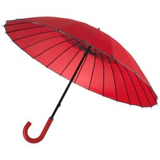 Зонт трость механичсеский 24 спицы Ella, красный фото