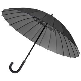 Зонт трость механичсеский 24 спицы Ella, серый фото