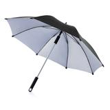 Зонт трость ручной Hurricane 23, черный/ серый фото
