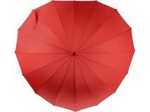Зонт трость механический Люблю, в форме сердца, красный фото