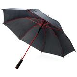 Зонт трость механический цветные спицы, черный/красный фото