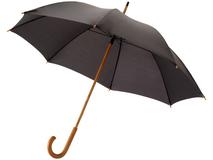 Зонт трость механический Jova с изогнутой деревянной ручкой, черный фото