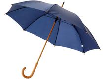 Зонт трость механический Jova с изогнутой деревянной ручкой, синий фото
