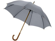 Зонт трость механический Jova с изогнутой деревянной ручкой, темно-серый фото