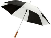Зонт трость полуавтомат Lisa, купол с сегментами, черный/ белый фото