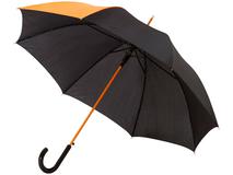 Зонт трость полуавтомат Lucy, черный / оранжевый фото