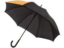 Зонт трость полуавтомат Lucy, черный/ оранжевый фото