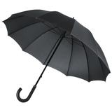 Зонт трость ручной Lui, черный с красным фото