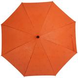 Зонт-трость Magic с проявляющимся цветочным рисунком, оранжевый фото