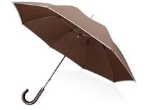 Зонт трость механический Ривер, коричневый фото