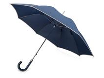 Зонт трость механический Ривер, синий фото