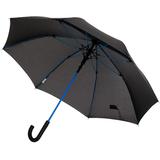 Зонт-трость с цветными спицами Colour Power, черный/синий фото