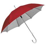 Зонт-трость Silver, полуавтомат; красный с серебром фото