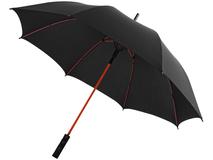 Зонт трость полуавтомат, цветные спицы Spark, черный/ красный фото