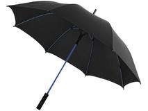 Зонт трость полуавтомат, цветные спицы Spark, черный/ синий фото