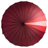 Зонт трость механический Спектр, красный/бордовый фото