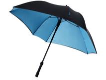 Зонт трость механический квадратный Marksman Square, черный/ голубой фото