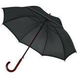 Зонт трость полуавтомат со светоотражающей полосой Unit Reflect, черный фото