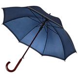 Зонт трость полуавтомат со светоотражающей полосой Unit Reflect, синий фото