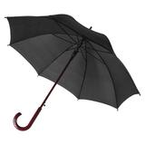 Зонт трость полуавтомат Unit Standard с изогнутой деревянной ручкой, черный фото