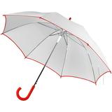 Зонт-трость Unit White, белый с красным фото