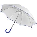 Зонт трость полуавтомат Unit White, купол с окантовкой, белый/ синий фото