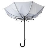 Зонт трость антишторм полуавтомат Unit Wind, серебристый фото