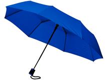 Зонт складной полуавтомат Wali, синий фото