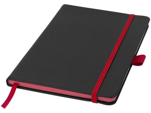 Блокнот на резинке Lettertone Color Edge А5, 80 листов, черный/красный фото
