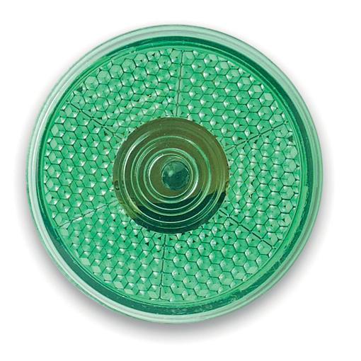 Фонарь светоотражающий, зеленый фото
