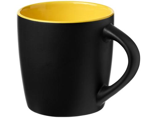 Керамическая чашка Riviera, черный, желтый фото