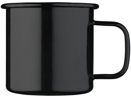 Кружка походная эмалированная, черный фото