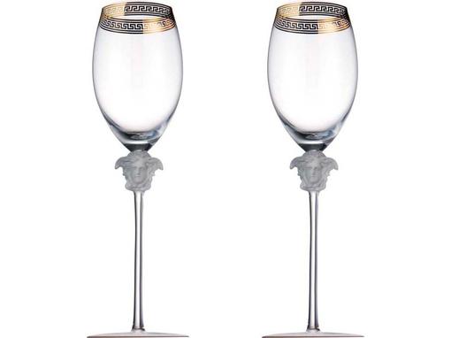 Набор бокалов для шампанского Medusa, прозрачный, золотой фото