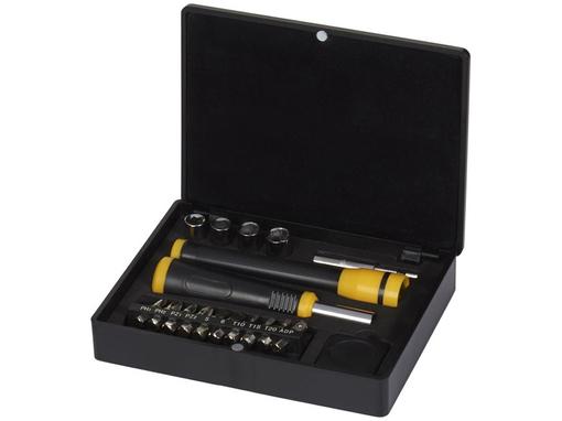 Набор инструментов 18 предметов, черный, серый фото