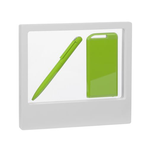 "Набор ручка ""Jupiter"" + зарядник ""Theta"" 4000 mAh в футляре, покрытие soft touch фото"